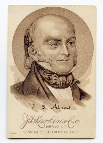 Sweet Home Family Soap Victorian J. L. Larkin Trade Card President John Q. Adams
