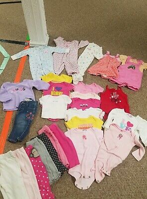 Girls Clothes 6-9 Month - Mixed Lot of 26 pieces  John deer &more all seasons