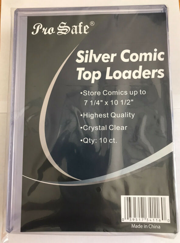 """10 BRAND NEW Silver Comic Top Loader 7.25"""" x 10.5"""""""