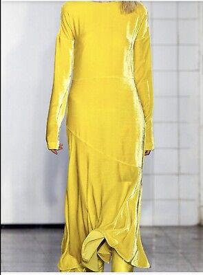 Cédric Charlier Sky Blue Velvet Dress