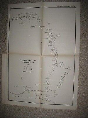 ANTIQUE 1889 PUERTO RICO VIRGIN ISLANDS CARIBBEAN SAINT MARTIN ISLAND MAP RARE