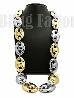 Men Rapper's Hip Hop Style Two Tone Chunky Thick 27mm 30