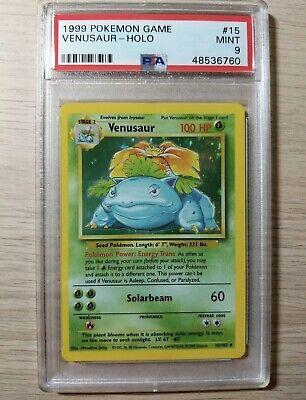 1999 WOTC Pokemon Game #15 Venusaur Holo Base Set PSA 9 MINT