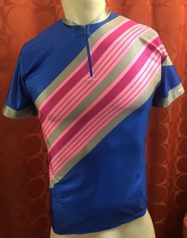 3 Vintage MARILENA Italy WindSkins CyclePro LYCRA Cycling Jersey PINK Nishiki