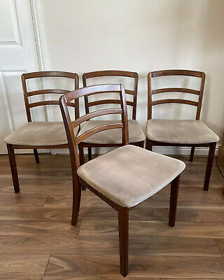 4 G Plan Mid Century Vintage Ladder Back Dining Chairs