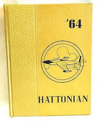 1964 Hattonian High School YEARBOOK Hatton ND FREE SH