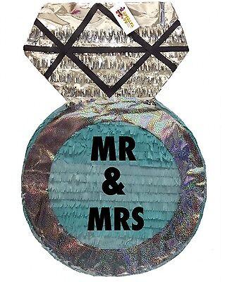 Large Diamond Ring Pinata Mr & Mrs Wedding Party Favors Bridal Shower - Wedding Pinatas