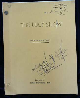 Vintage 1965 Lucille Ball TV Show Script LUCY SAVES MILTON BERLE Episode