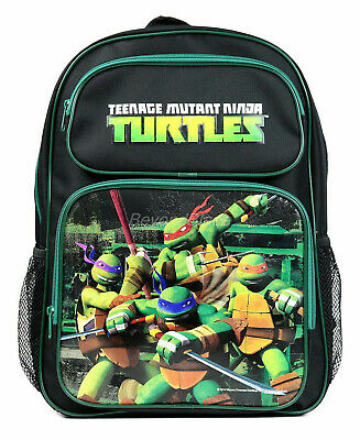 Teenage Mutant Ninja Turtle Black Backpack School Book Bag Backpack 16