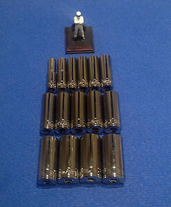 Blue Point Snap On socket set 3/8 dr Deep 12pt 10mm to 24mm sockets NEW not 1/4