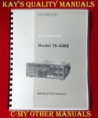 Kenwood HF Tansceiver Model TS-430S Ham Radio Original User Instruction Manual