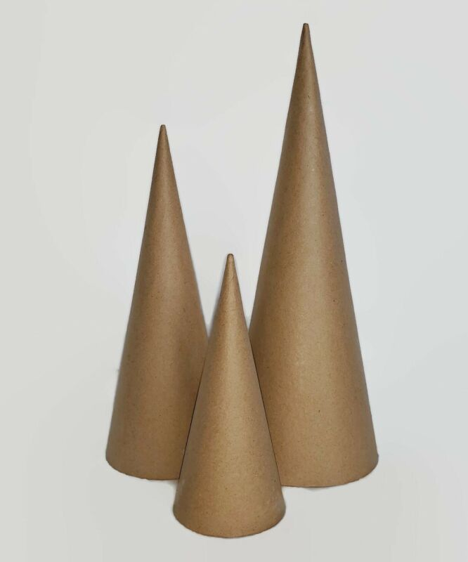 Paper mache Open Bottom Cones. VARIETY PACK 3 Sizes