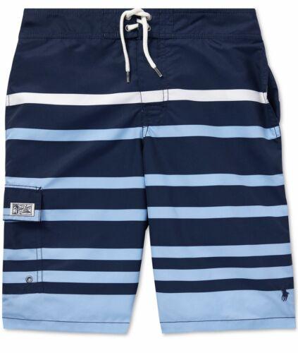 NWT Ralph Lauren Polo Big Boys Kailua Striped Swim Trunks XL (18-20)