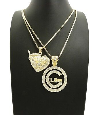 ICED OUT ROUND GLO GANG & THOT BREAKER PENDANT 24