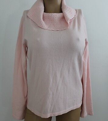 Nwt Jennifer Moore Soft Light Pink Sweater Top Cowl Neck Long Sleeve Large