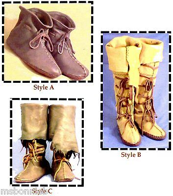 Renaissance Boot Pattern (Medieval, Renaissance, Highlander, Nomad Boot, Moccasin 3 Styles Sewing)