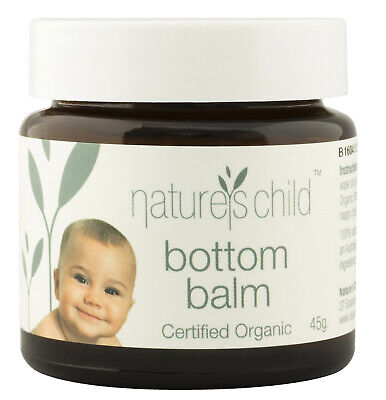 Baby Bottom Balm 45g for Nappy Rash Certified Organic Nature