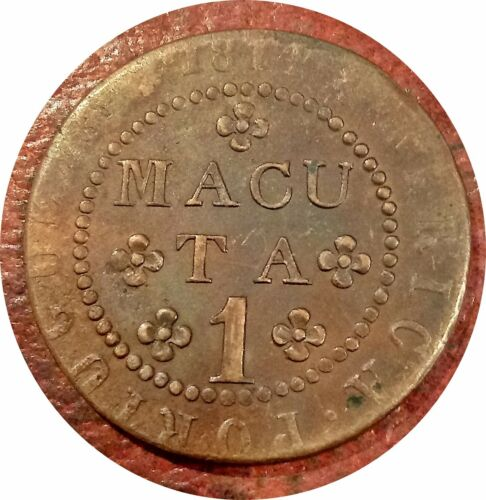 PORTUGUESE AFRICA ~ ANGOLA ~ 1814 MACUTA ~ KM-46 ~ NICE GRADE VERY SCARCE TYPE