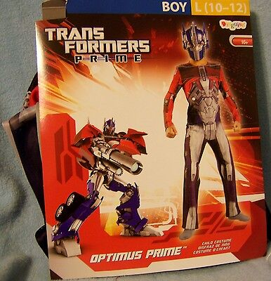 L 10-12 Transformers Prime Costume Disguise Childs Kid Boy Pretend Halloween NWT](Kid Transformer Costume)