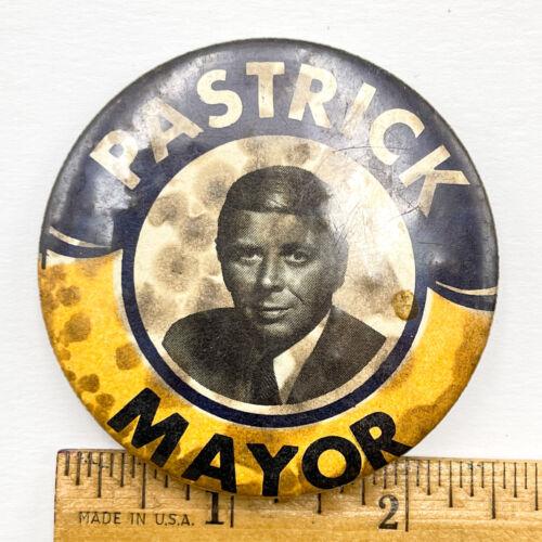 """Vintage East Chicago Mayor Bob Pastrick Political 2.5"""" Pinback Button JJ3"""