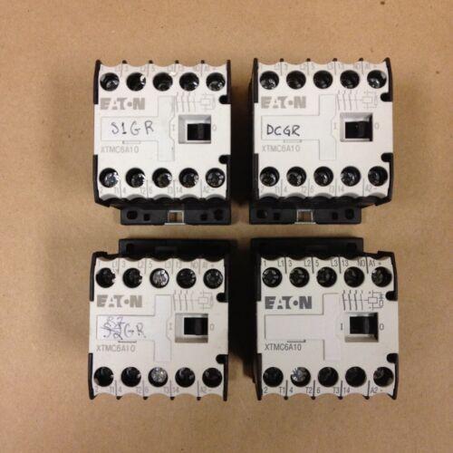(Lot of 4) Eaton XTMC6A10 Contactor, 15A, 600VAC, 3P, Coil: 24V dc