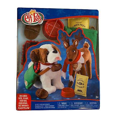 Elf on the Shelf PETS Good Tidings Tote Scarf Set St Bernard Reindeer NEW