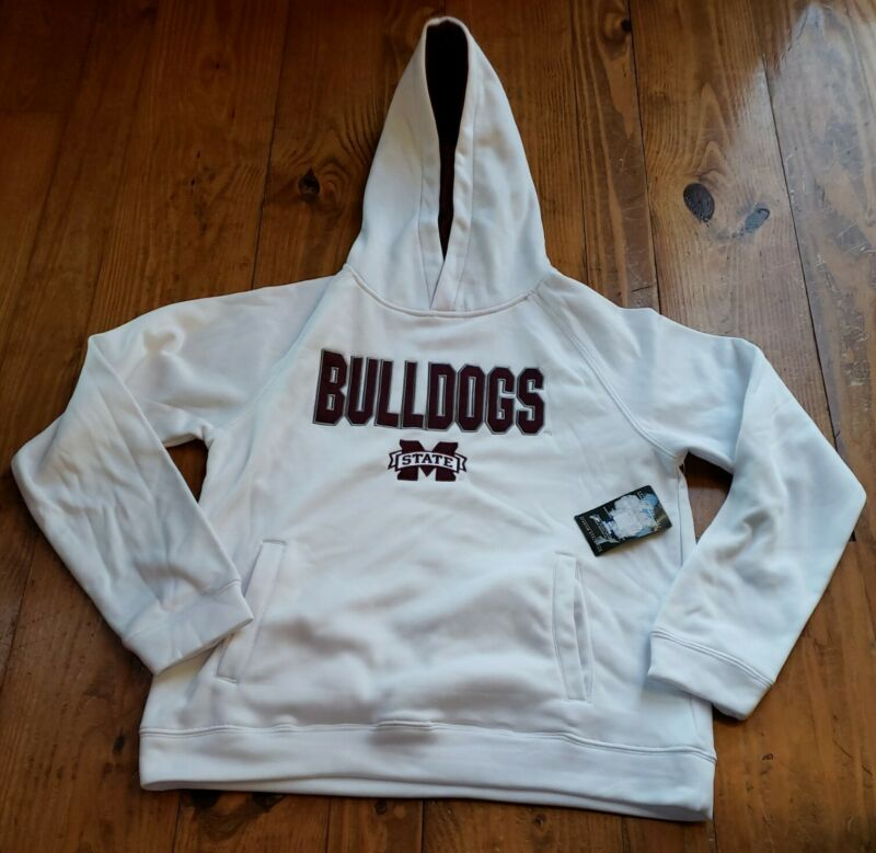 STADIUM ATHLETICS YOUTH MISSISSIPPI STATE BULLDOGS HOODIE WHITE SIZE L (AC18)