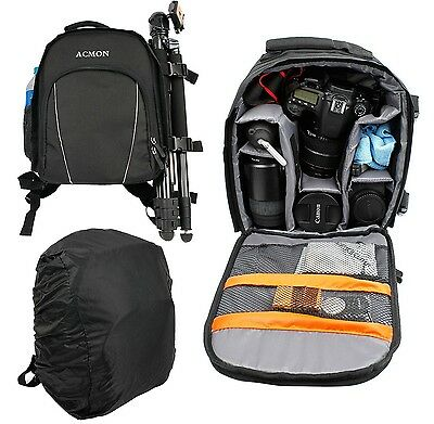 Camera Backpack Bag Waterproof Lens Case Rucksack For DSLR Canon EOS Nikon