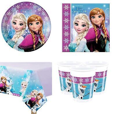 Mädchen Disney Frozen Komplett 37 Teile Geburtstagsfeier Geschirr Dekoration Set ()