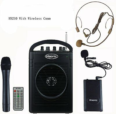 44023c94467 Hisonic HS210 Rechargeable Portable PA System with Wireless Microphone