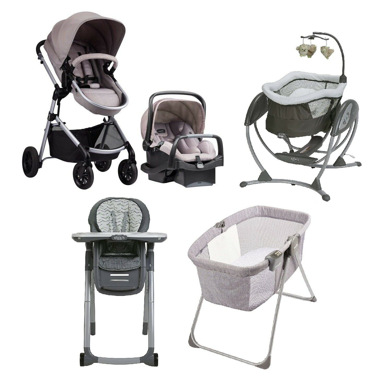 Baby Bundle Stroller Car Seat Bassinet Chair Swing Sleep Tra