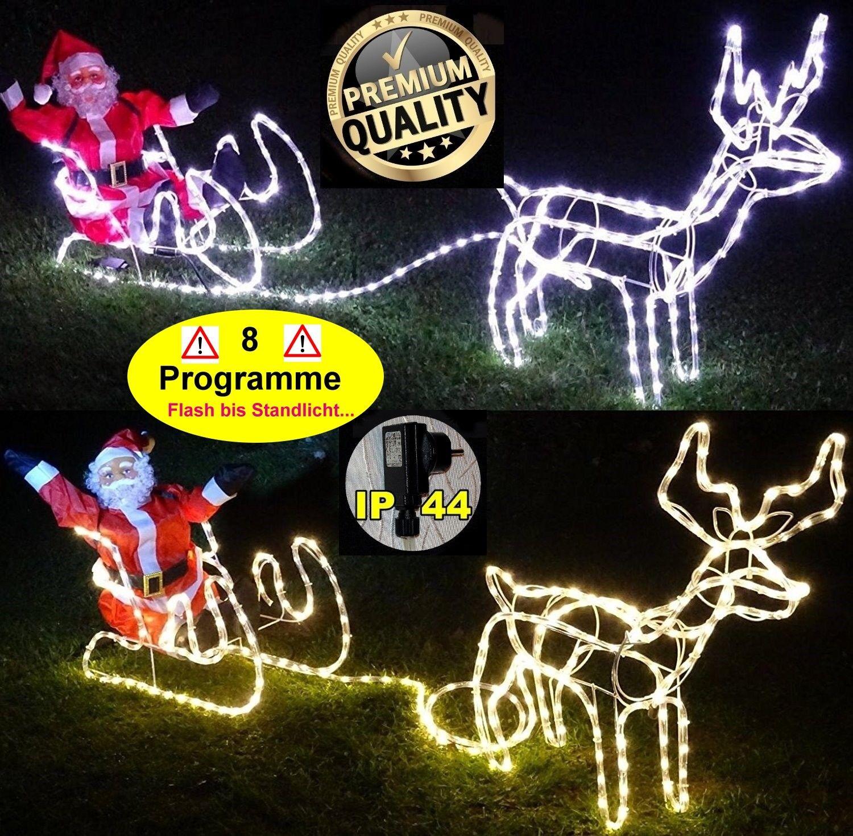 Weihnachtsbeleuchtung Außen Schlitten.3d Led Lichterkette Rentier Mit Schlitten