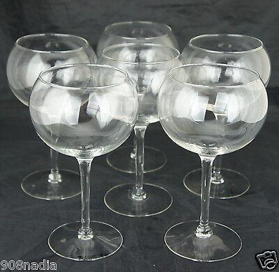(CLASSIC RED/WHITE BALOON WINE GLASS SET OF 6 STEMWARE)