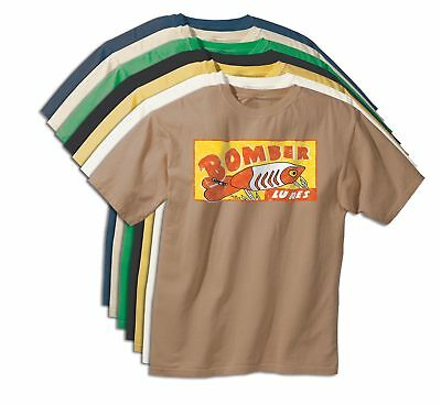 BOMBER LURES Vintage Fishing Bait T-Shirt - Tackle Apparel Angler Rod/Pole Gear