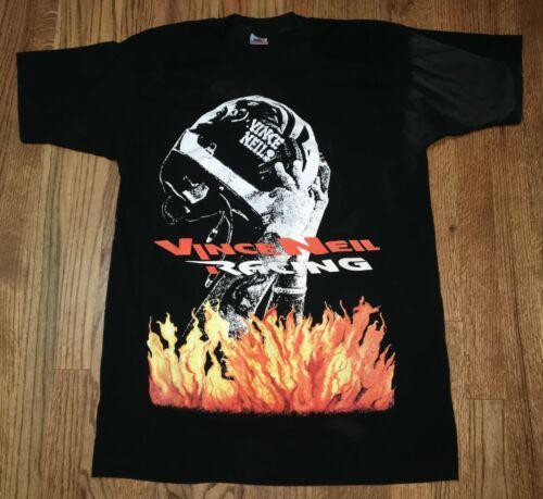 Vintage 1993 Vince Neil Racing Motley Crue Black Concert Tour Large Shirt 90s