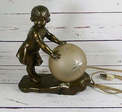 Art Deco Globe Lamp