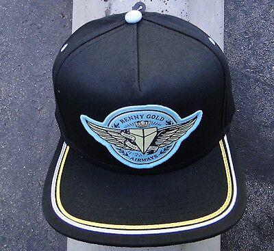 Benny Gold Skate Co  Airways Black Mens Snapback Hat Htben 25