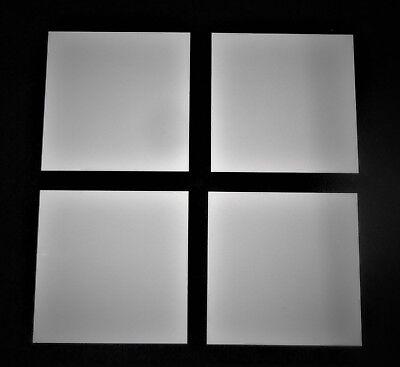 Lot Of Four 4 Thin Square Alumina Ceramic Substrate 2 X 2 X .025  No. 503