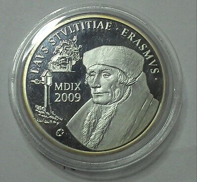 Belgique monnaie munt coin 10 euros 2009 QP argent silver zilver ERASMUS