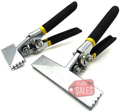 """2pc 6"""" & 3"""" Jaw Straight Sheet Metal Seamer Flatten & Bend Metal Seaming Pliers"""