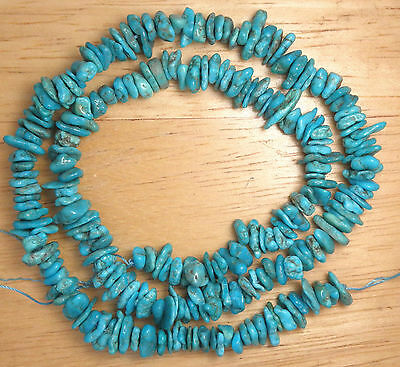 Grade A Blue Turquoise Chip Beads Craft Or Jewelry 16  Std 6Mm X 8Mm    941