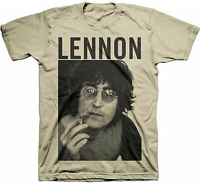 Portrait Adult Tee (John Lennon Smoke Portrait Adult T-Shirt - Rock Band the Beatles Music)