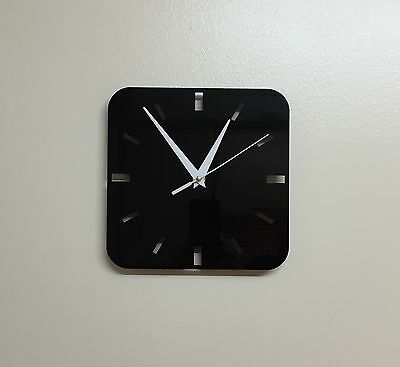 Acrylic Square Black Clock With White Hands White Square Clock
