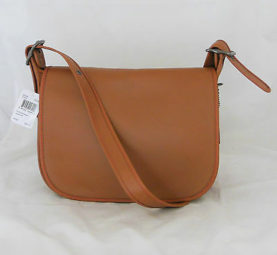 Coach 1941 Saddle Brown Glovetanned Leather Flap Crossbody Purse Bag 55298 New