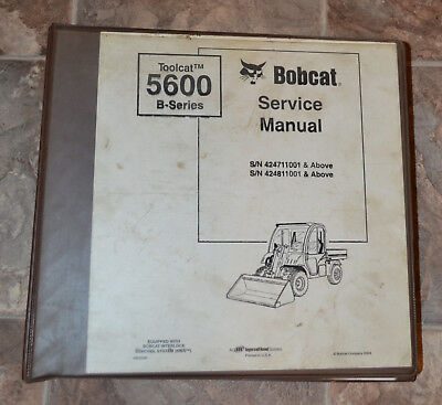 Bobcat Service Repair Manual Toolcat 5600 B Series 6902819