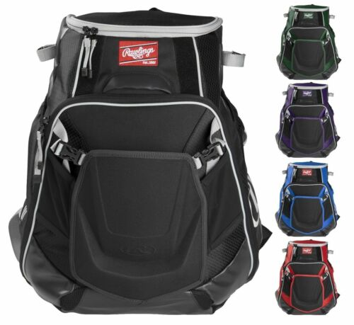 Rawlings Velo Baseball/Softball Backpack Bat Equipment Bag VELOBK