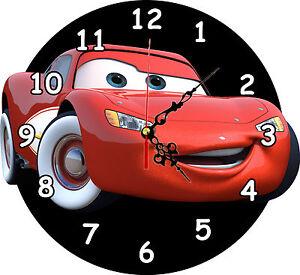 Lightning Mcqueen Clock, Novelty Clock, kids Clocks, Childrens Wall Clocks-