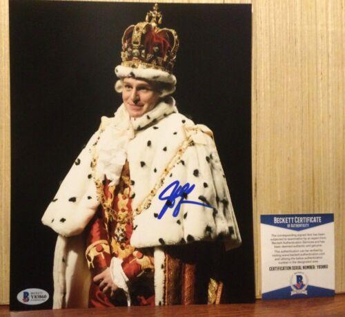 JONATHAN GROFF HAMILTON KING GEORGE SIGNED 8X10 PHOTO BECKETT BAS