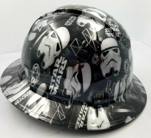 Hard Hat Full Brim STORMTROOPERS Custom hydro dipped full brim DEATH STAR NEW 1