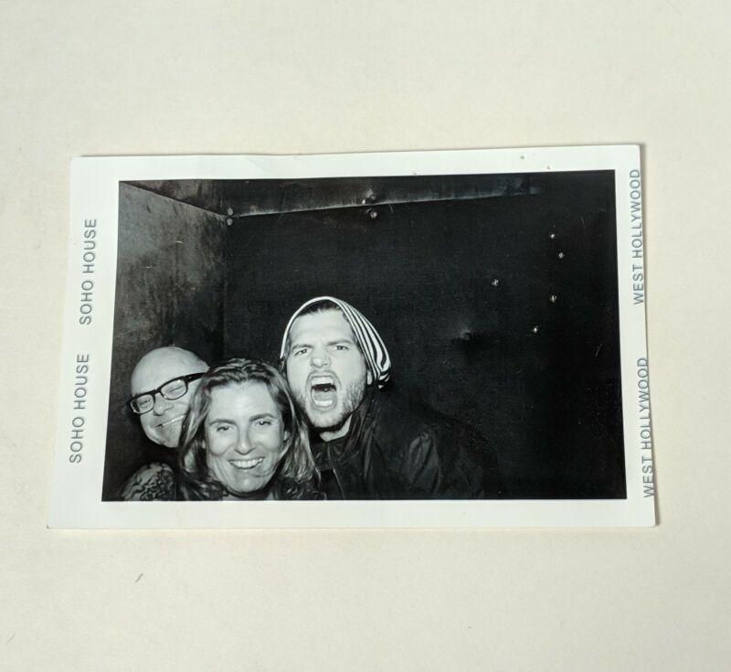 Ashton Kutcher Rare Photo Booth Photograph with Friends